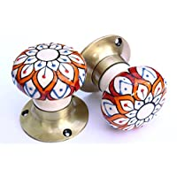 Knobbles and Bobbles Mortice Knobs - Orange Embossed (Bronze)