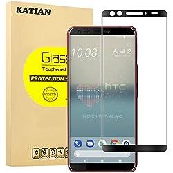 HTC U12+ (Plus) Protecteur D'écran, KATIAN 3D Full Coverage Film Protection en Verre Tempé [Couverture Complète]Anti-explosion][Anti-rayure][Sans-bulles] Écran HD Films Protecteur Pour HTC U12+ (Plus)
