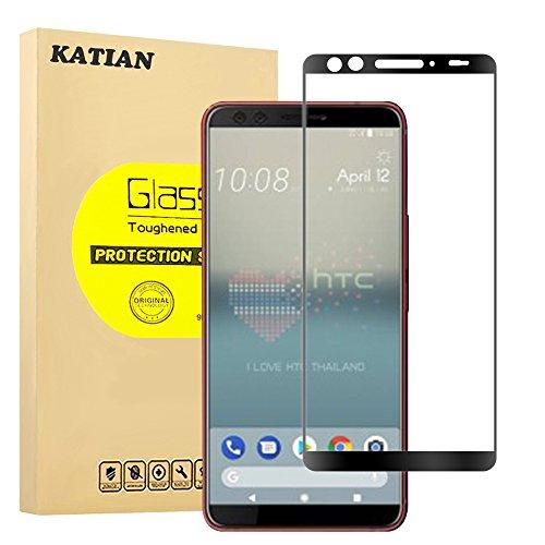 HTC U12+ (Plus) Panzerglas Schutzfolie, KATIAN 9H Panzerglasfolie Hartglas, Ultra-klar 3D Vollständige Abdeckung , 0,33mm, Anti-Kratzen Wasserdicht Displayschutzfolie für HTC U12+ (Plus)