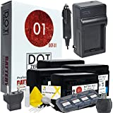4X DOT-01 Brand Canon HF R700 Batteries And Charger For Canon HF R700 Camera And Canon HFR700 Accessory Bundle For Canon BP718 BP-718
