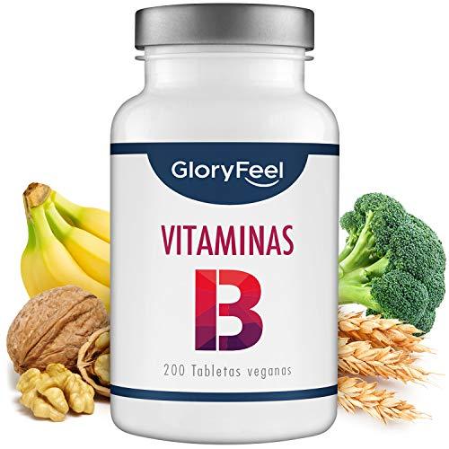 GloryFeel Vitamina B Complex - 200 tabletas veganas de vitamina B