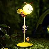 Thread_de® Intelligentes Touch LED Nachtlicht der Neuheit, Stiftaffe, welche die Affebaby-Unterhaltungsplattform-Bienenlampe auflädt, die Note dimmt, die kleine Schreibtischlampe verdunkelt (Gelb)