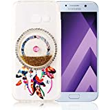 "Nnopbeclik [Coque Samsung Galaxy A5 2017 Silicone] Paillettes Briller Style Backcover Doux Soft Housse pour Samsung Galaxy A5 2017 Coque silicone (5.2 Pouce) Dreamcatcher Style Protection Antiglisse Anti-Scratch Etui ""NOT FOR A5 2016/2015"" - [Or]"