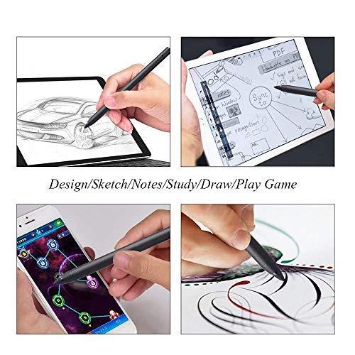 er aktiver Stift, Neuester wiederaufladbarer digitaler 1,9-mm-Stift mit ultrafeiner Spitze für iPad/iPhone/Samsung/Android/Oberfläche/Dell und andere Touchscreen-Geräte ()