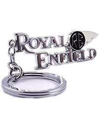 Gratitude Silver Royal Enfield Logo Metal Keyring