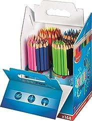 Maped - Crayons de Couleur Color'Peps - crayon Triangulaire Ergonomique aux Couleurs Vives - Conforme à La