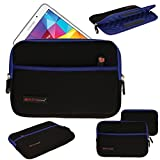 TECHGEAR® [SENTINEL PRO Sleeve (8)] - Slim Neoprene Zipped Protective Sleeve Case Cover with Anti-Shock Bubble Interior for Apple iPad Mini 4, 3, 2, 1, Samsung Galaxy Tab A 8.0, Tab 3 8.0, Tab 4 8.0, Tab S 8.4, Tab S2 8.0, Acer Iconia Tab 8 , Iconia One 8, Asus MeMo Pad 8, ZenPad 7, ZenPad 8, Google Nexus 7 and many more [BLUE]