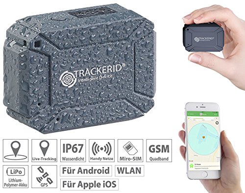 TrackerID GPS Ortung: WLAN, GPS & GSM-Tracker, Live-Tracking-App, Gegensprech-Funktion, IP67 (Kfz Tracker)