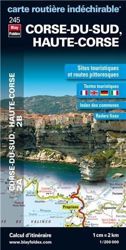 Corse-du-Sud (2A), Haute-Corse (2B) - Carte routière et touristique