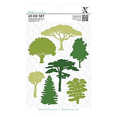 docrafts Xcut Woodland Trees A5 Die Set (Pack of