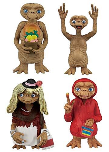 Tomy-ET E.T. - Der Außerirdische Set 4 Figuren Sammlung 6cm Original Gashapon Japan Extra Terrestrial