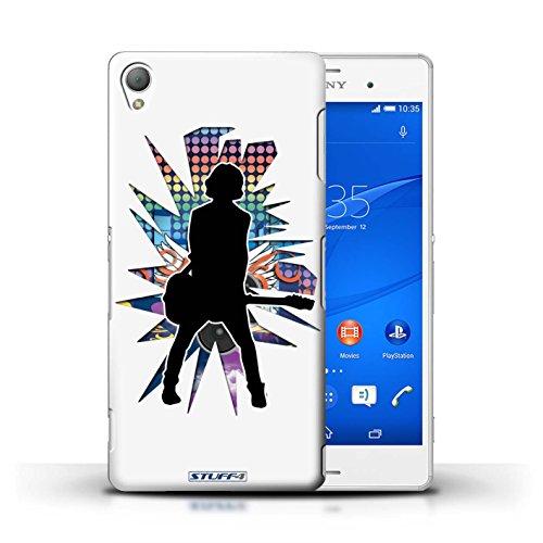Kobalt® Imprimé Etui / Coque pour Sony Xperia Z3 / Saut Blanc conception / Série Rock Star Pose émotion Blanc