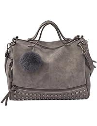 730637aeb6 Femme sac à bandoulière /sac à main grand capacité avec pompon Belle léger  joli Utile