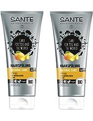 SANTE Naturkosmetik Haarspülung Natural Care Mango, Regeneriert die Haarstruktur, Schenkt natürlichen Glanz, 2x200ml Doppelpack
