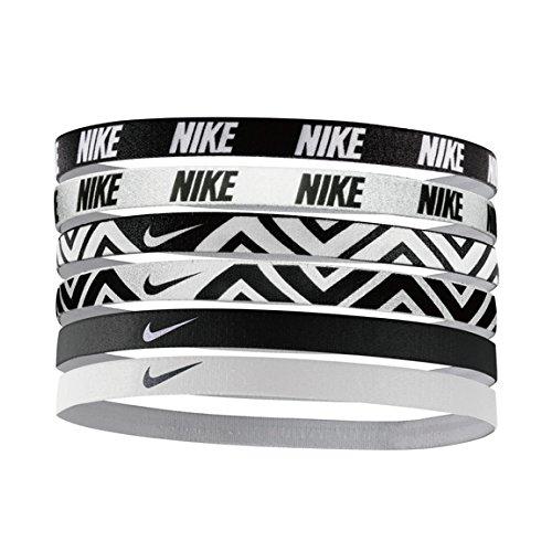Nike Printed Headbands Assorted 6Pk Stirnband, Black/White, One size (Running Gear Nike)