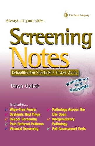 Screening Notes Rehabilitation Specialists Pocket Guide (Davis ...