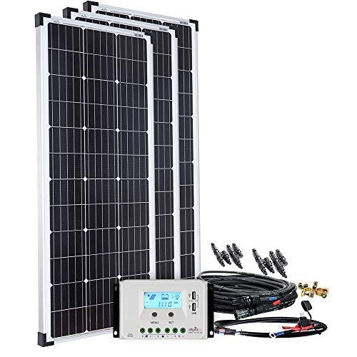 Offgridtec Solaranlage basicPremium-L 300W mit 45A LCD Laderegler Profi Kabelkit