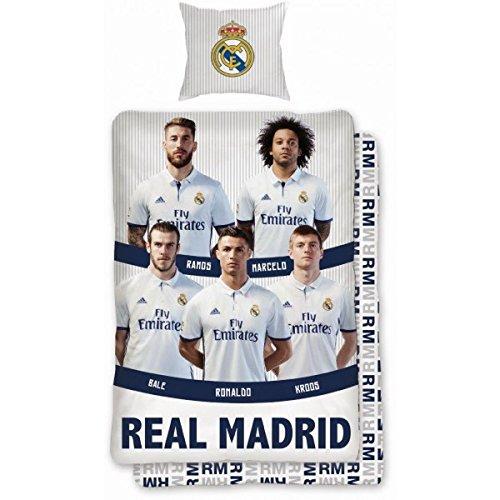 Real Madrid CF selección única algodón edredón manta conjunto
