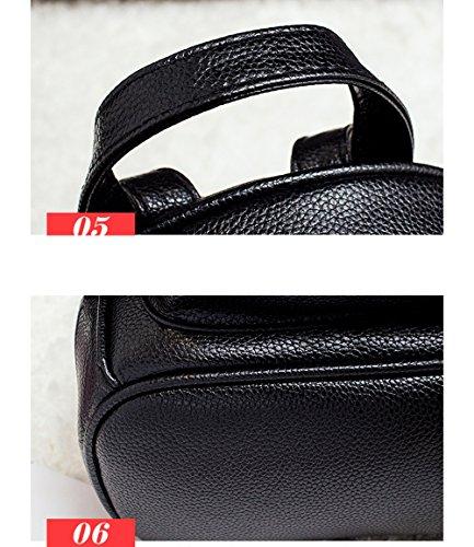 Versione coreana selvaggia dell'onda della borsa a tracolla / sacchetto femminile / modo di cuoio dell'unità di elaborazione doppio uso zaino / signore adatta il sacchetto di svago di svago ( Colore : Vino rosso