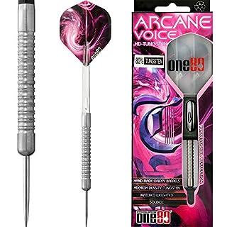 ONE80Soft-Dartpfeile Arcane Voice Dart–Edelstahl Spitze–griffige–Handarbeit–23G–mit Darts Ecke gebogen Kugelschreiber