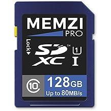 Memzi Pro 128GB Class 1080Mb/s scheda di memoria per Fujifilm FinePix JV, JX o Jz Series fotocamere digitali