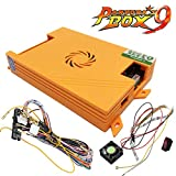 TAPDRA Pandora's Box 9 Arcade Board, 1500 Retro Classic Vintage Multi Video Games, Arcade Cabinet Console Machine DIY Kit, with Harness Cable/Power Switch Adapter, HDMI VGA 720P LCD Monitor
