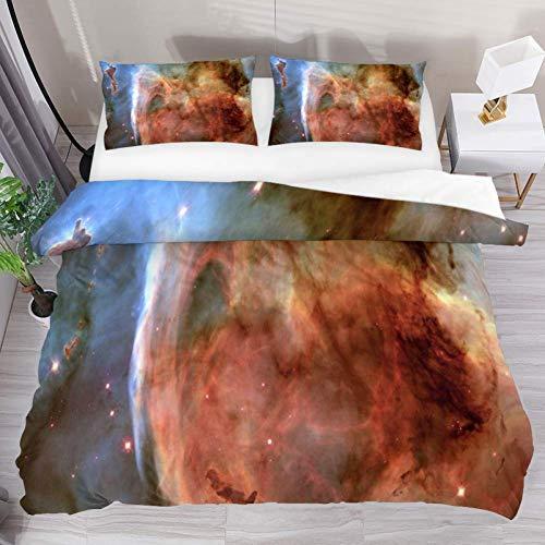 Soefipok Bettwäsche Bettbezug-Set Galaxy Abstract Painting Bedrucktes Tröster-Set mit 2 Kissenbezügen 3-teilig, 1 Bettbezug mit 2 Kissenbezügen - Abstract Tröster