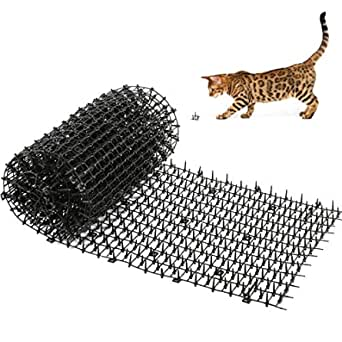Dorgerove 4m Prickle Strip Dig Stopper Humane Pet Digging Deterrent Scat Mat with 20 Metal Pegs