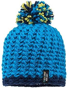 maximo Jungen Mütze mit Pompon Mehrfarbig (Navy/Bluette 4828), 51/53