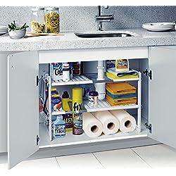 MWS2137 Estantería modular de 2 niveles para el interior de armarios y muebles (50 x 70 x 40 cm)