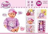 Bayer Design 93863AD - Funktionspuppe First Words Baby mit 24 Lauten, 38 cm, lila