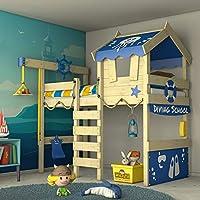 c7722150235d5e WICKEY Lit enfant  CrAzY Jelly  - Lit mezzanine - Lit cabane avec sommier à