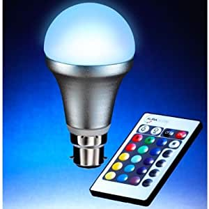 Auraglow BC/B22 Remote Controlled Colour Changing Light Bulb