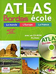 Atlas Bordas École + CD-Rom - Edition 2016