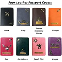 I Love Fashion Faux Leather Personalised Passport Cover for Men & Women