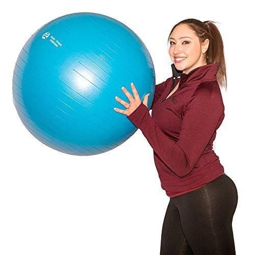 s-PREMIUM QUALITÄT Gymnastik Ball mit pump-55cm/65cm/75cm-Gut getestet bis luftfahrqualität Antiburst Stabilität Ball, blau ()
