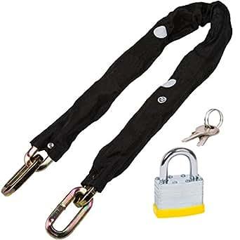 spares2go 10mm 3Ft gehärtetem Stahl Boot/marine Lock Up Kette & Vorhängeschloss