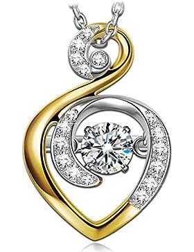 Dancing Heart Wächter der Liebe Kette Damen Silber 925