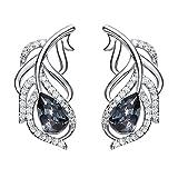 Caratteristiche del prodotto  I gioielli YOURDORA sono fatti a mano con il cristallo di SWAROVSKI. SWAROVSKI produce le più belle pietre di cristallo del mondo nei colori più belli e vibranti.  Questo è un elegante orecchini in argento sterli...