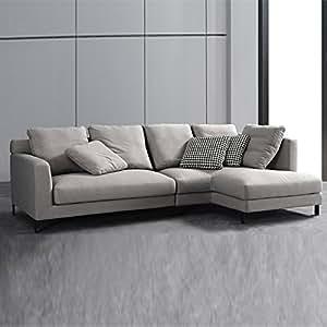 Canapé d'angle droit en tissu gris - Columbia