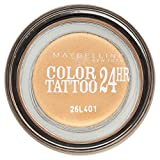 Gemey Maybelline Eyestudio Color Tattoo, Ombretto 24h, 05 Eternal Gold