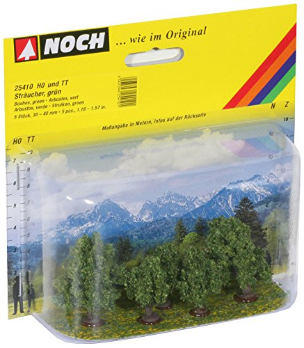 noch-25410-modelisme-ferroviaire-elements-de-decoration-arbustes-vert-5-pieces