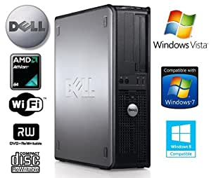 Dell OptiPlex 740 Wi-Fi Enabled Desktop PC - Dual Core 2.1GHz AMD Athlon Processor - 80GB Hard Drive- 2GB Memory - DVD-RW (Writer) - Windows Vista Business