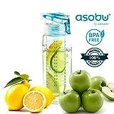 Bottiglia per Acqua Asobu 600 ml Pure Flavor 2 Go / Senza BPA / Bottiglia di Ampia capacità con Coperchio da Avvitare / Copoliestere a Lunga Durata