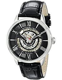 Stuhrling Original Legacy Delphi 696 Men's Automatic Watch with Black Dial Analogue Display and Black Leather Strap 696.02