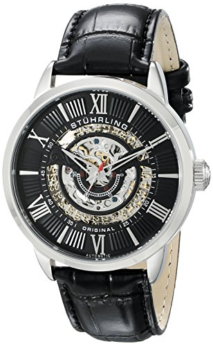Stührling Original 696.02 - Reloj analógico para Hombre, Correa de Cuero, Color Negro