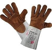 Guantes de cuero de soldadura FULDA - ISO - Guantes de trabajo para el trabajo de soldadura - Talla 8 (M) a 12