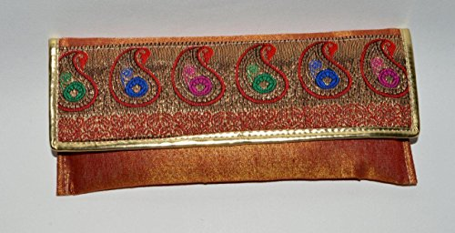 Theshopy Lady Clutch With Hand Work Size:- (Inche) 9.5x4.5#967