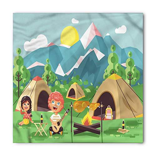 WYICPLO Girl Scouts Bandana, Singing Boy Girl Camp, Unisex Head and Neck Tie,39.3 * 39.3inch