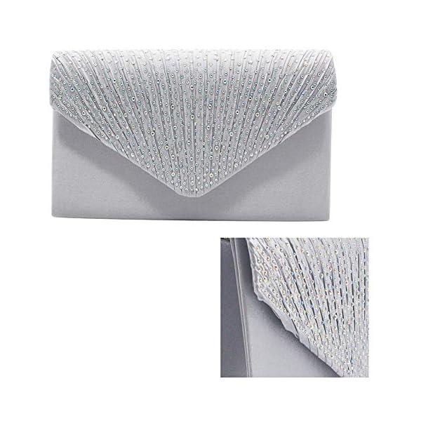 51ZruS6Lk L. SS600  - 1PC del Rhinestone del bolso de embrague de cristal brillante de la tarde del sobre del bolso del monedero del bolso…